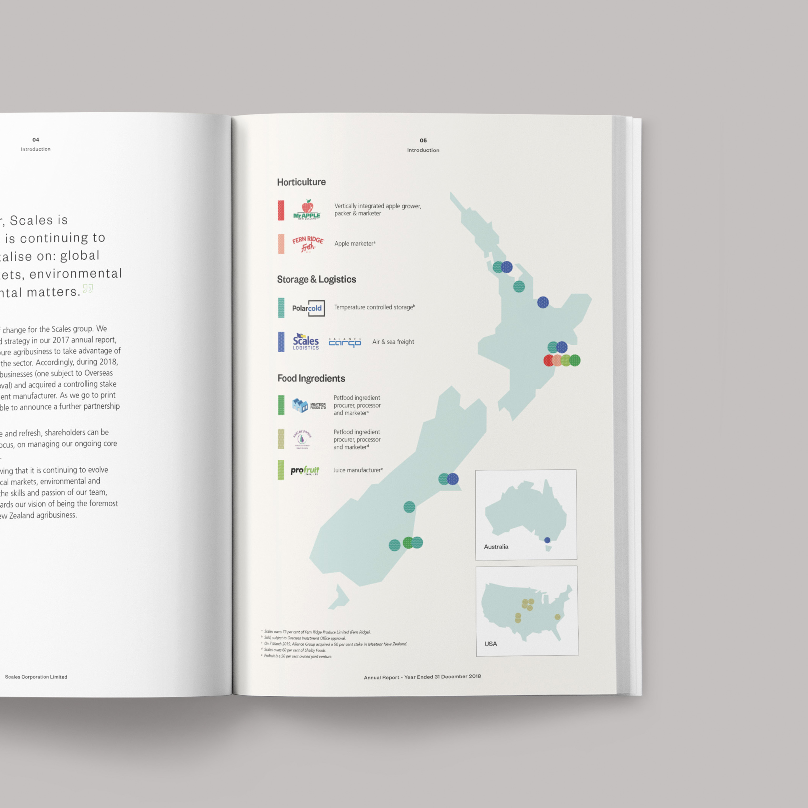 Scales Annual Report Spread Design